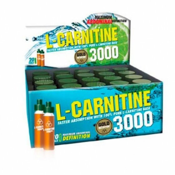 L-CARNITINE 3000 GOLD NUTRITION SOLUCAO ORAL 10 ML x 20 UNIDADES