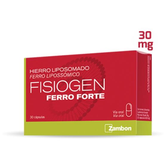 ZAMBON FISIOGEN FERRO FORTE 30 CÁPSULAS