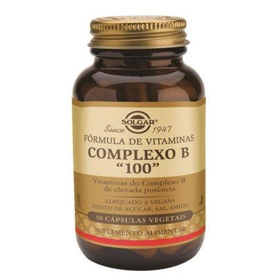 Solgar Vitaminas Complexo B 100 Cápsulas x50