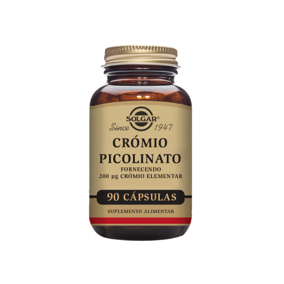 Solgar Chromium Picolinate 200mcg 90 Cápsulas