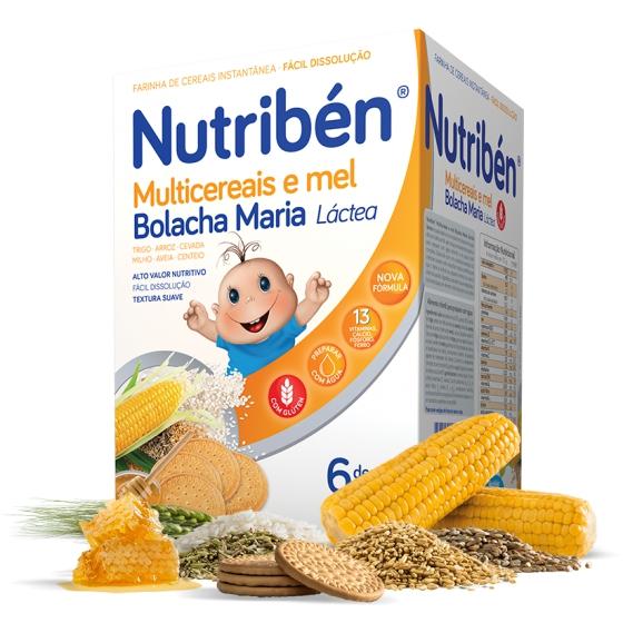 Nutribén Multicereais e Mel Bolacha Maria 600g