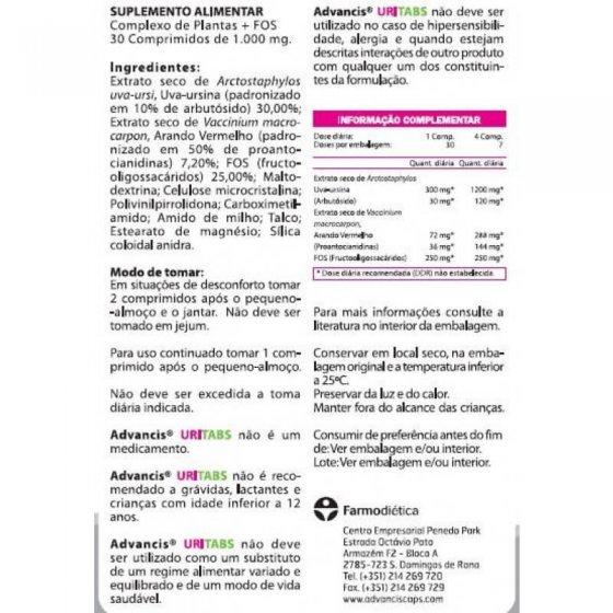 ADVANCIS URITABS COMPRIMIDOS X 30