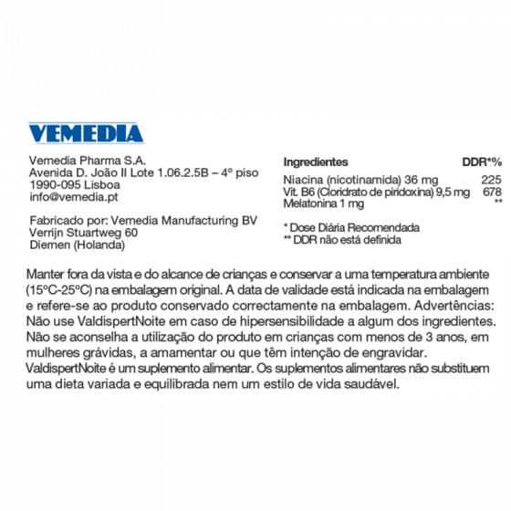 VALDISPERT NOITE COMPRIMIDOS X 60