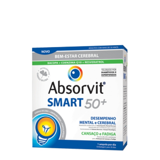 ABSORVIT SMART50+ AMPOLAS 10 ML X 30