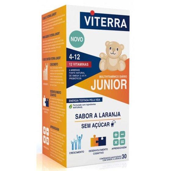 VITERRA JUNIOR COMPRIMIDOS MASTIGAVEIS LARANJA X30