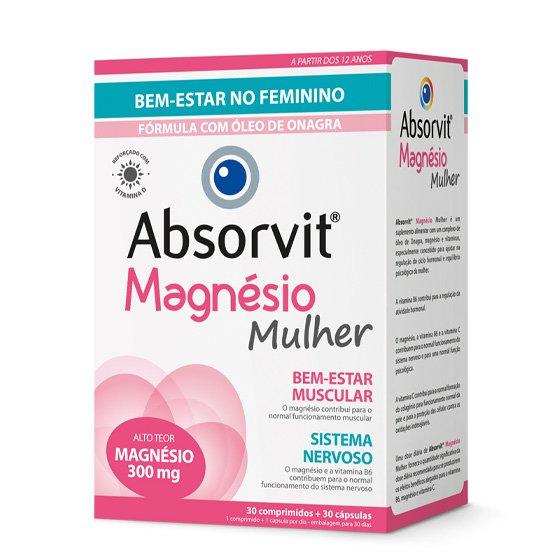 Absorvit Magnésio Mulher x30 Comprimidos + x30 Cápsulas