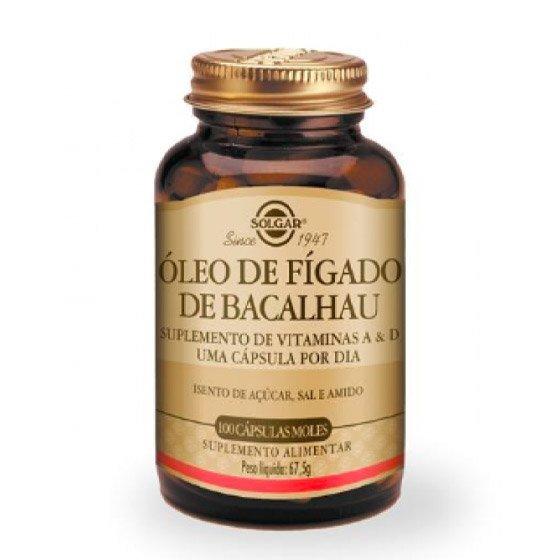 OLEO FIGADO BACALHAU SOLGAR CAPSULAS X 100