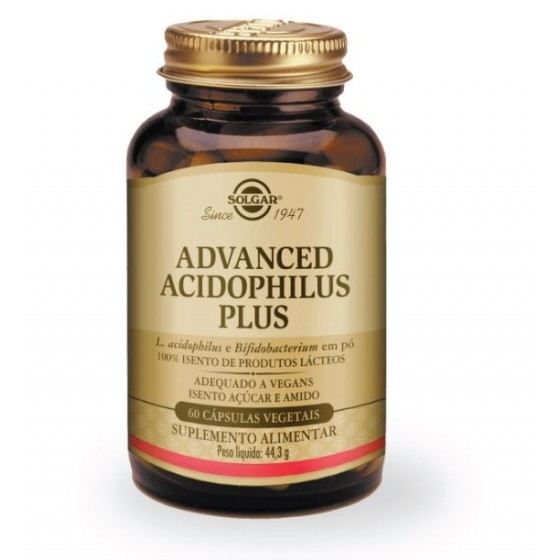 ADVANCED ACIDOPHILUS PLUS SOLGAR CAPSULAS X 60