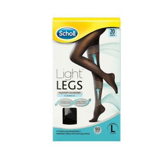 SCHOLL LIGHT LEGS COLLANT COMPRESSAO 20DEN S PRETO