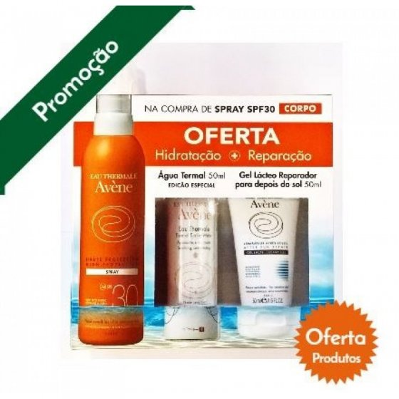 AVENE SOLAR SPRAY 30+ OFERTA GEL LACTEO + AGUA TERMAL 50ML