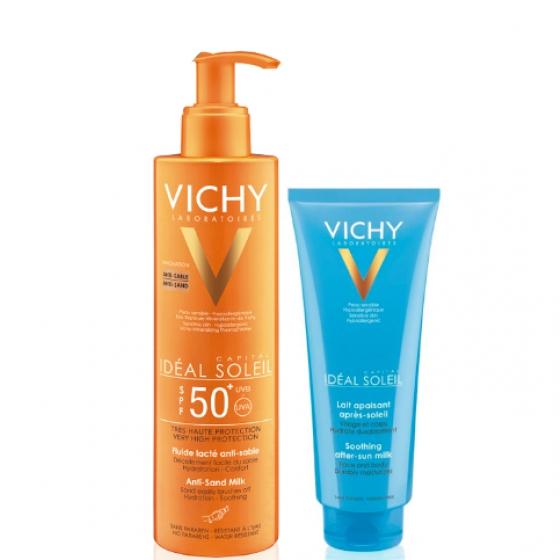 VICHY IDEAL SOLEIL LEITE AREIA FP50+AFTER SUN 100ML
