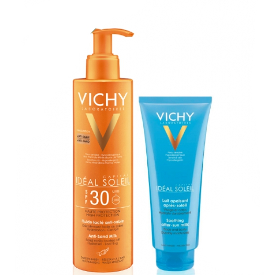VICHY IDEAL SOLEIL LEITE AREIA FP30+AFTERSUN 100ML