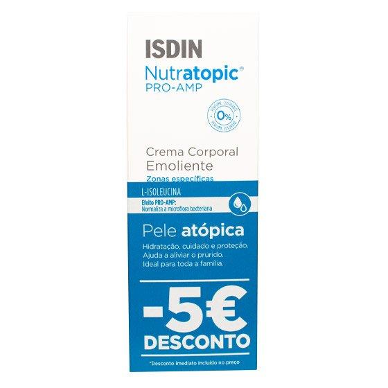 ISDIN NUTRATOPIC PRO-AMP CREME EMOLIENTE 200 ML COM DESCONTO DE 5€