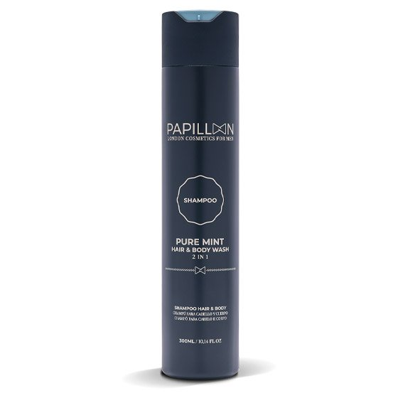 PAPILLON CHAMPO PURE MINT CABELO/BARBA 300ML