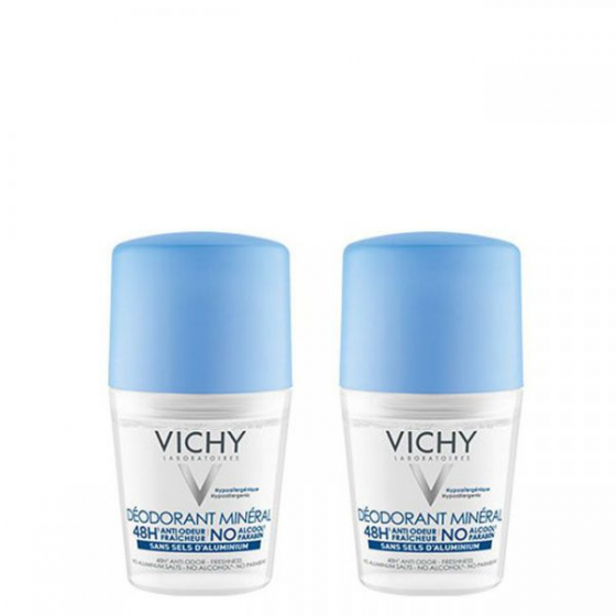 VICHY DEO ROLL ON MINERAL 50ML DUO