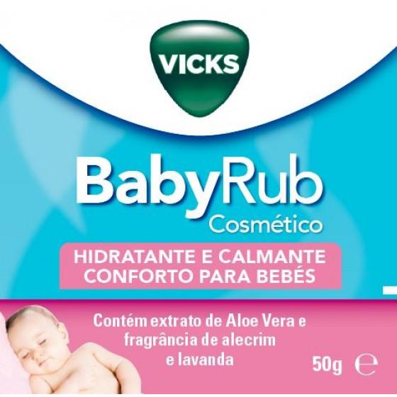 VICKS BABYRUB POMADA HIDRATANTE CALMAMTE 50G