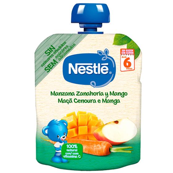 NESTLE NATURNES MACA CENOURA MANGA 90G 6 MESES