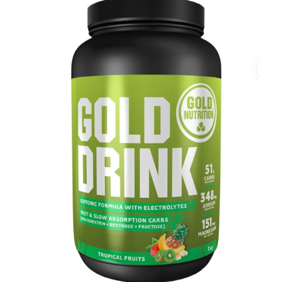 GOLD NUTRITION GOLD DRINK FRUTOS TROPICAIS 1KG