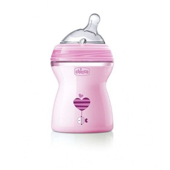 CHICCO BIBERON NATURAL FEELING ROSA 250 2 MESES+