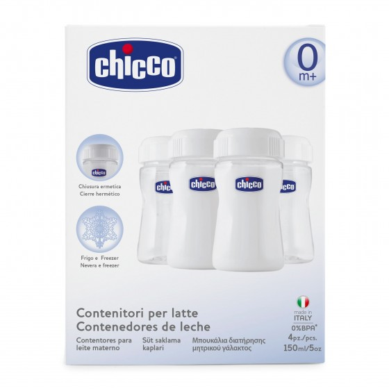 CHICCO CONTENTOR LEITE MATERNO X 4