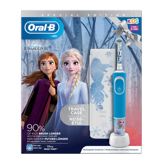 ORAL B STAGES POWER ESCOVA DENTIFRICA ELECTRICA INFANTIL FROZEN + ESTOJO