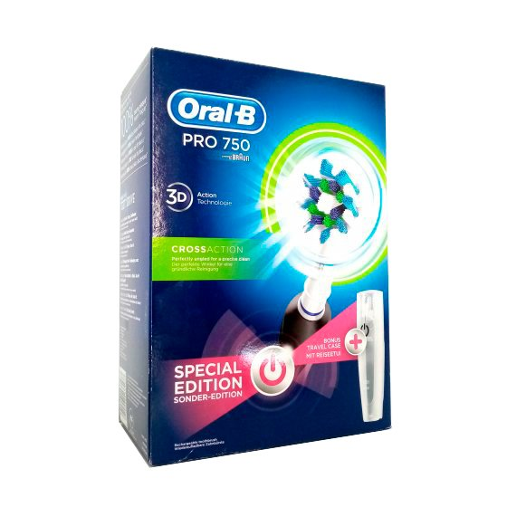 ORAL B PRO EXPERT ESCOVA ELECTRICA CA 750 BLACK BOX