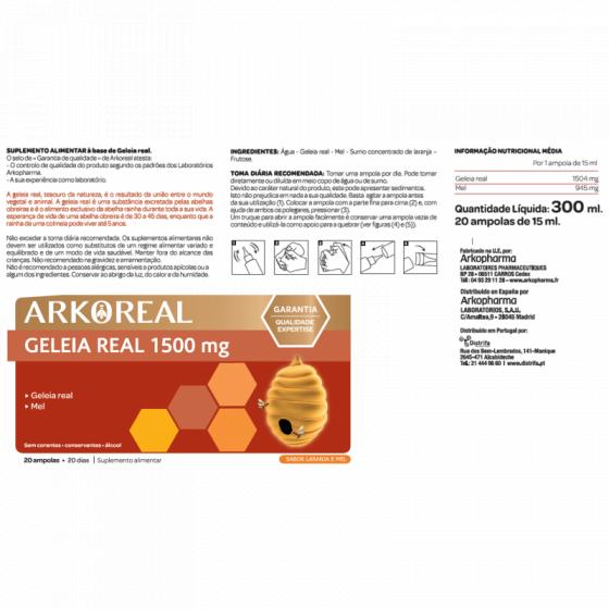 ARKOREAL GELEIA REAL 1500MG AMPOLAS X 20