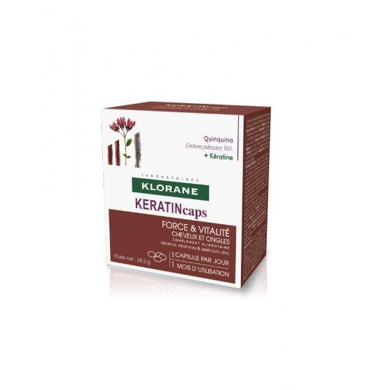KLORANE Keratincaps para cabelo com todos os tipos de queda. Embalagem de 30 unidades