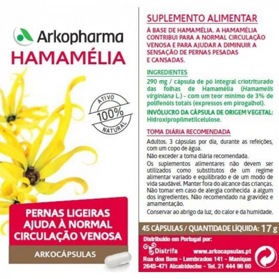 ARKOCAPSULAS HAMAMELIA CAPSULAS X 45