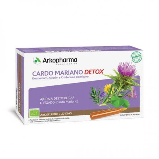 ARKOFLUIDO CARDO MARIANO DETOX AMPOLAS X 20