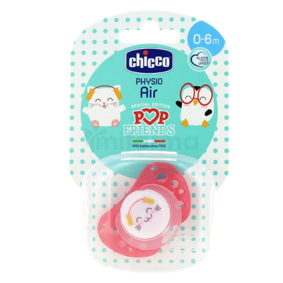 Chicco Chupeta Physio Air Pop Friends Silicone 0-6 Meses