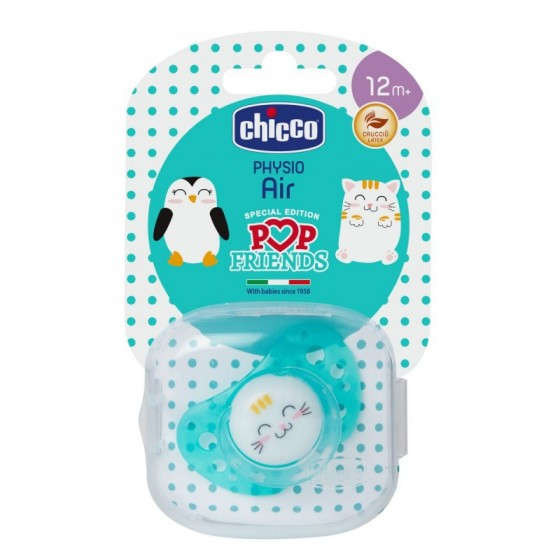 CHICCO CHUPETA PHYSIO AIR POP FRIENDS SILICONE 12 MESES+