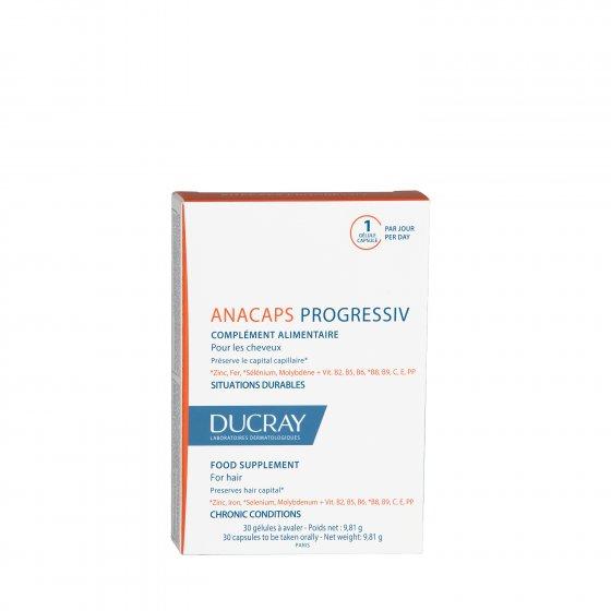DUCRAY Anacaps Progressiv Embalagem de 30 cápsulas