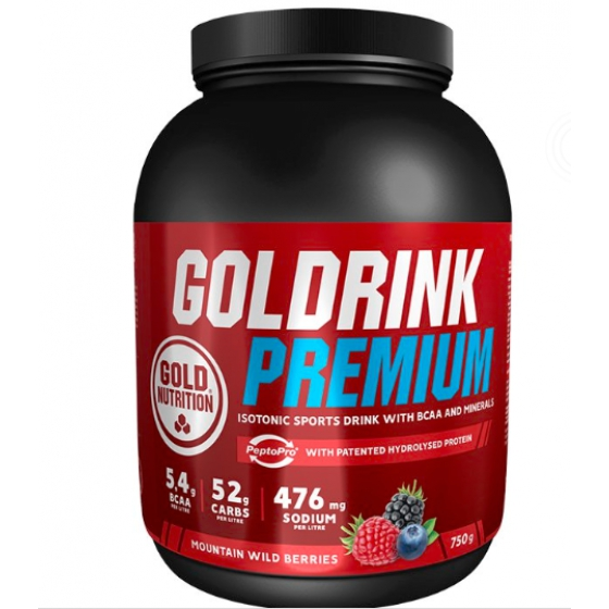 GOLD NUTRITION GOLD DRINK PREMIUM FRUTOS SILVESTRES 750G