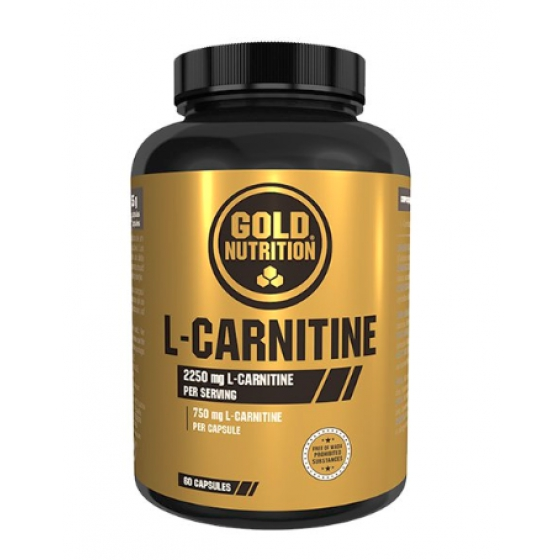 GOLD NUTRITION L-CARNITINE 750MG CAPSULAS X 60