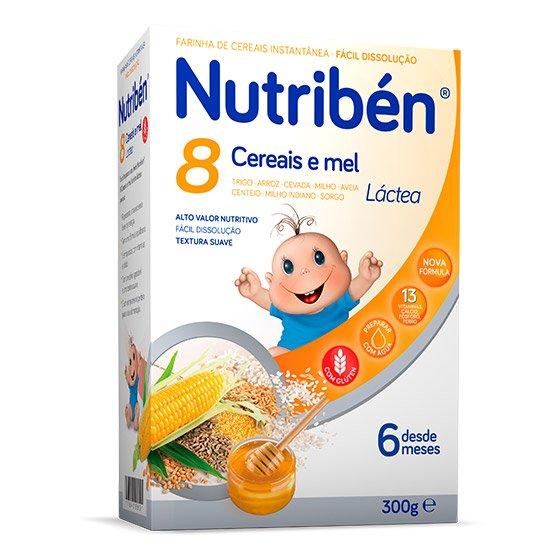 NUTRIBEN 8 CEREAIS E MEL LÁCTEA 300G