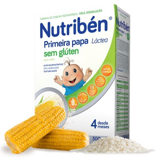 NUTRIBEN PRIMEIRA PAPA SEM GLÚTEN LÁCTEA 300G